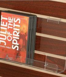 Acrylic DVD/Paperback Slatwall Shelf